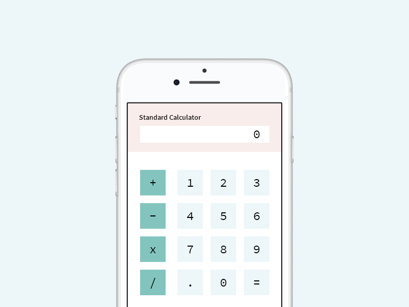 Calculator - Mockup