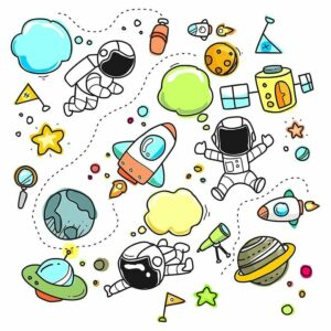 rocket-astronaut-sketches