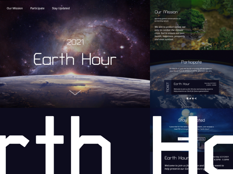 Earth Hour Dribbble Mockup