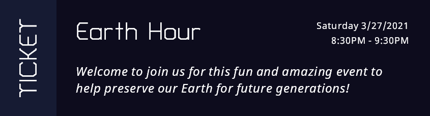 Earth Hour Ticket